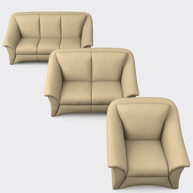 3d Hukla Furniture Set Sofa