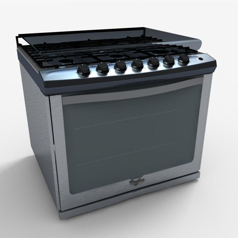 we7650s stove 3d max