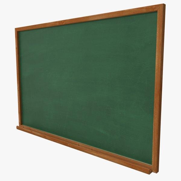 Chalkboard 3 3d Max