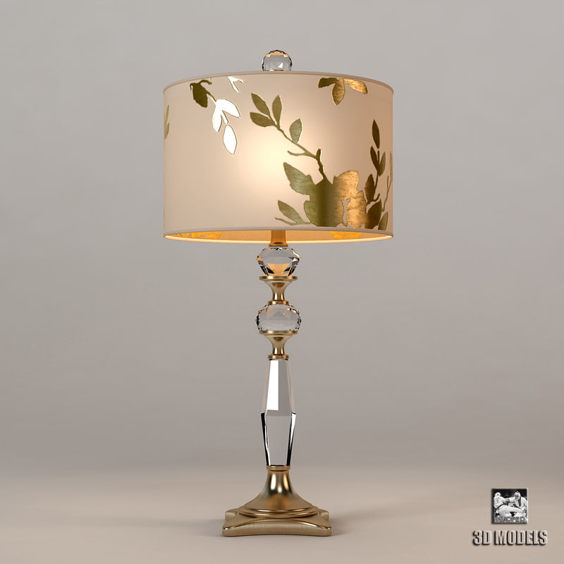 max horchow golden leaf table lamp