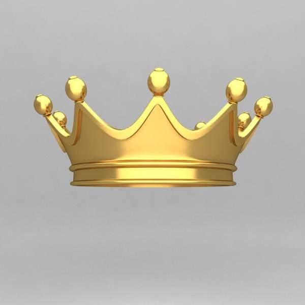3d Crown Ornaments King Model