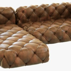 Oversized Leather Sofa Restoration Hardware Benchcraft Bed 3ds Max Soho Tufted
