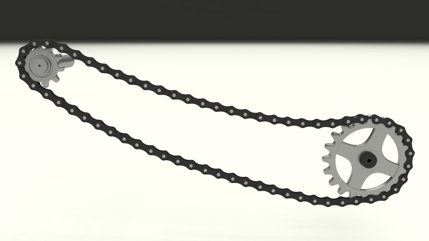 3d model bicycle chain