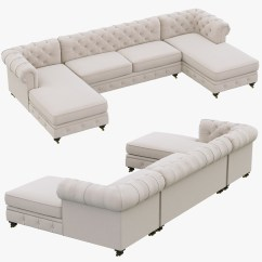 Restoration Hardware Kensington Sofa 106 Flip Open Bed Upholstered 3d Max