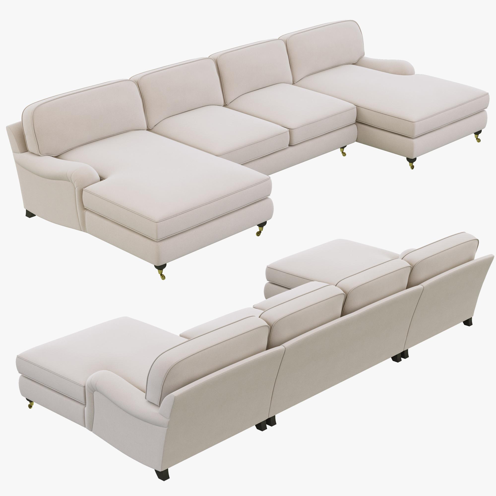 english arm sofa restoration hardware chartreuse tufted 3d roll model