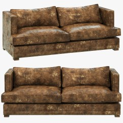 Restoring Leather Sofa Set Foam 3d Model Restoration Hardware Easton