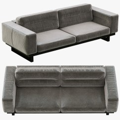 Restoring Leather Sofa 4 Seater Restoration Hardware Durrell 3d Obj