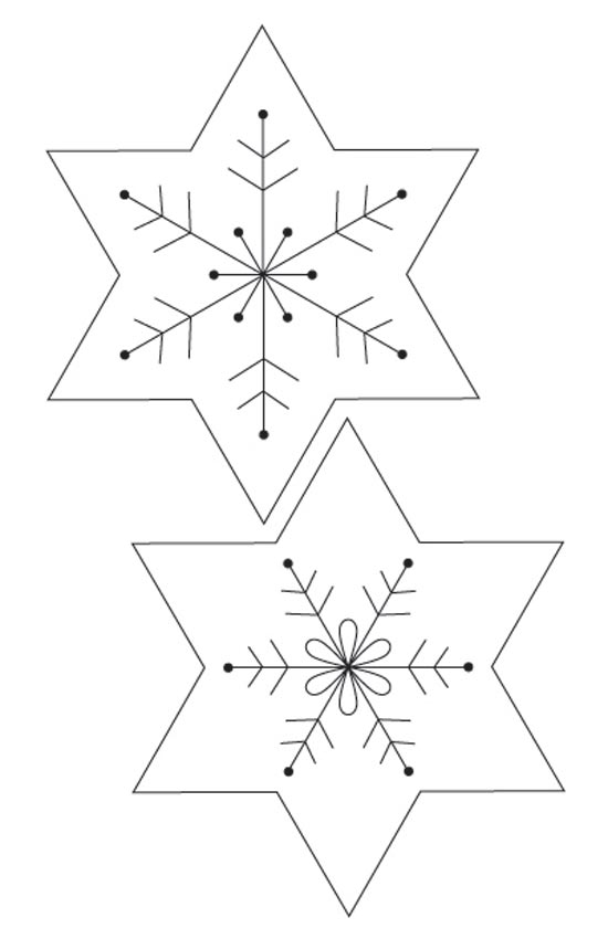 Christmas decorations: felt snowflake Christmas garland
