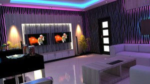 karaoke 3d ktv furniture max interiors commercial
