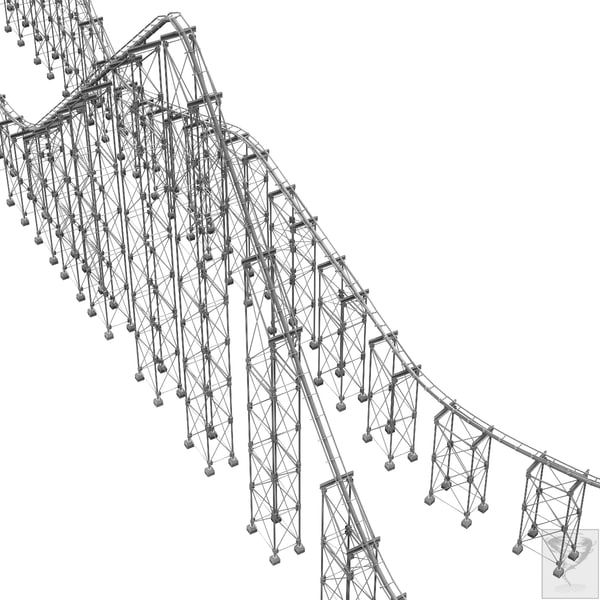 3ds max roller coaster track