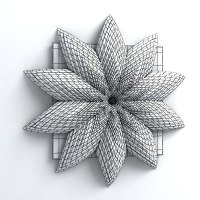 wall origami decorative 3d max
