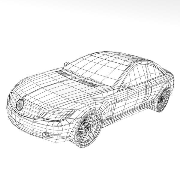 3d model mercedes benz cl500 2007
