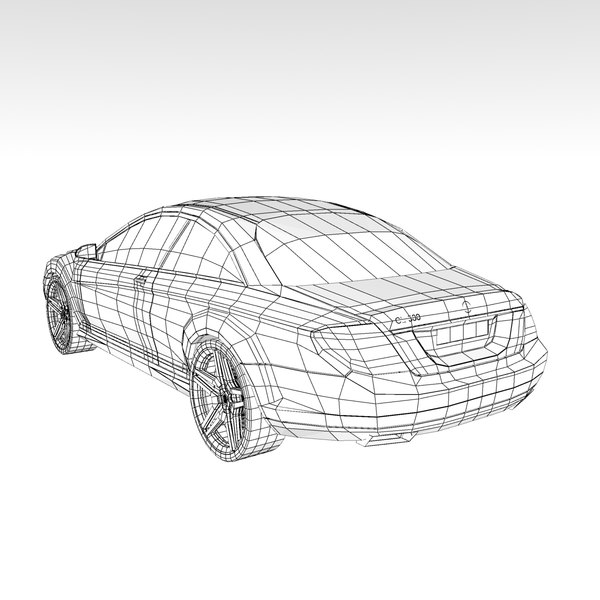 3d model mercedes benz cl500 2007