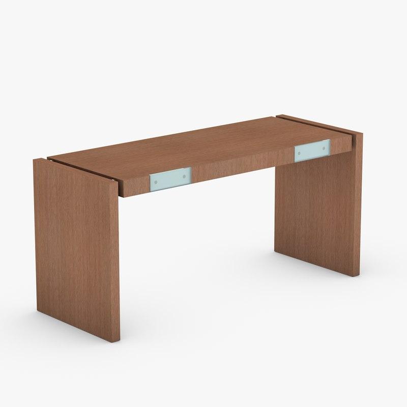 3ds max modern wooden desk wood