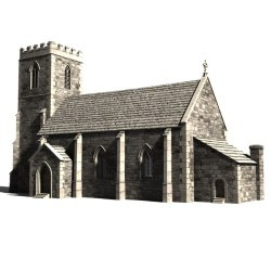 church medieval 3d turbosquid hq 3ds