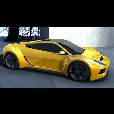 3D fbx S5 Raptor Saleen