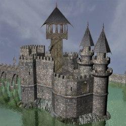 castle fantasy medieval maya wall walls ancient fiction
