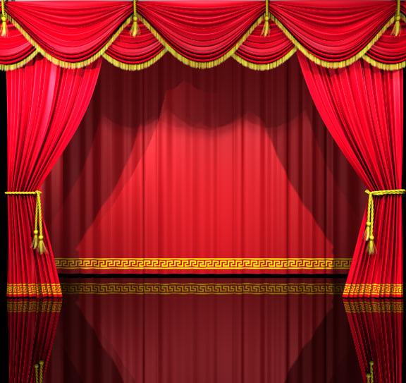theatre curtains 3d c4d
