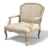 3d model lounge louis chair