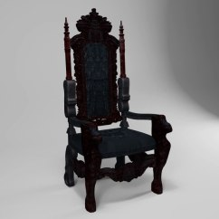 High Backed Throne Chair Shower With Armrests 3d Max