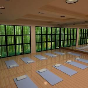 yoga studio 3d lighting environment max interior bamboo turbosquid spaces hq diffuse