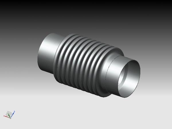 flexible exhaust pipe 3ds