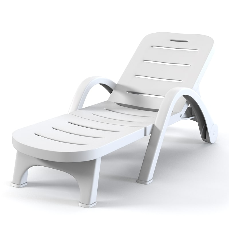 plastic beach chaise lounge chairs extravaganza wedding chair covers 3ds max sunlounger sun