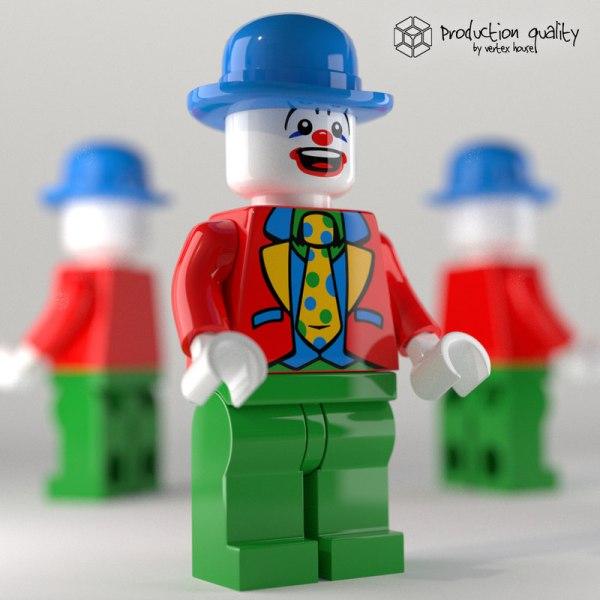 LEGO Clown Minifigure