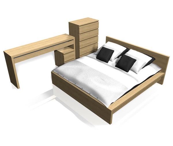 ikea malm bedroom furniture 3d c4d