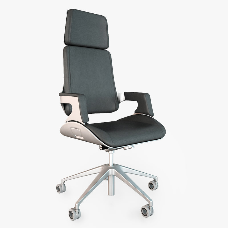 office chairs interstuhl silver 3d model