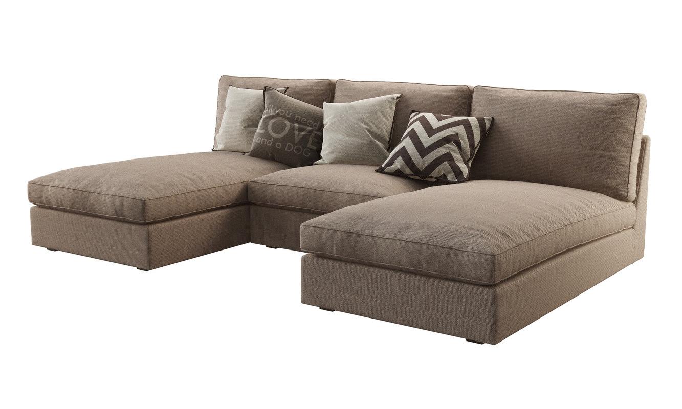 kivik sofa chaise rattan set online india 3d model ikea 2
