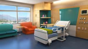 hospital cartoon maya simple 3d interior office background living bed hospitals clinic childrens healthcare turbosquid films stlfinder