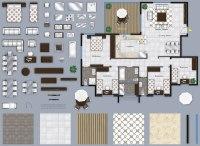 Texture psd 2d floor plan