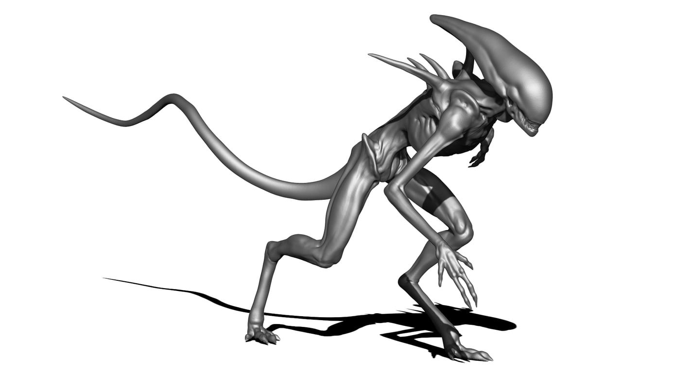 3D obj alien Covenant Xenomorph