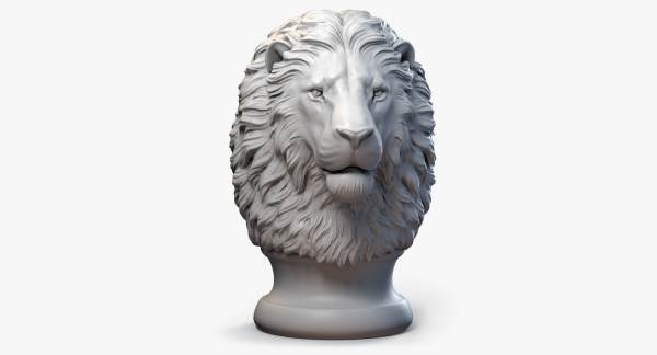 Lion Head Sculpture 3d Max