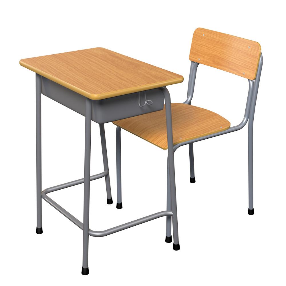 school desk chair wood 3ds