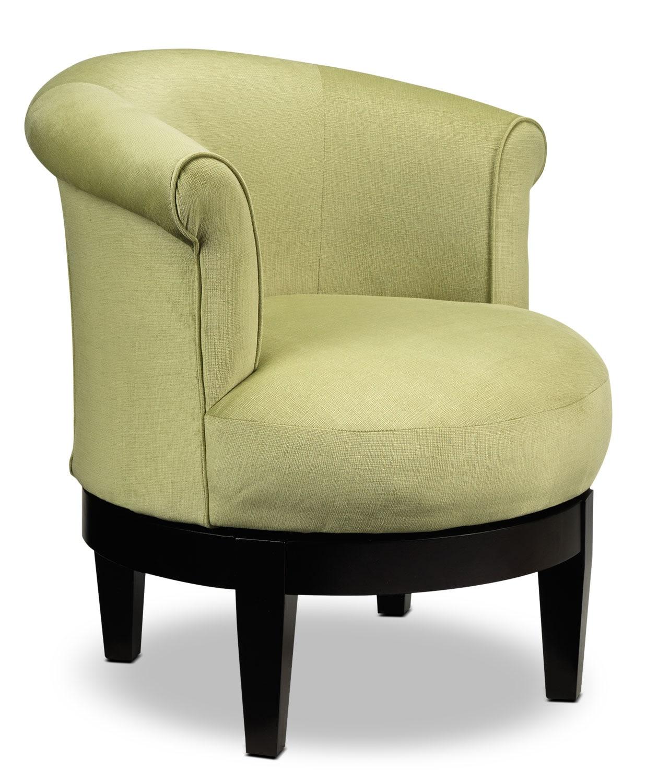 Lemoore Accent Swivel Chair  Lime  Furnitureca