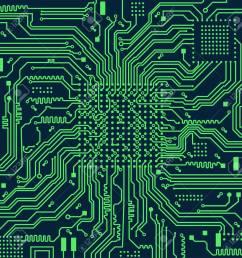 high tech electronic circuit board vector background stock vector 98087469 [ 1242 x 1300 Pixel ]