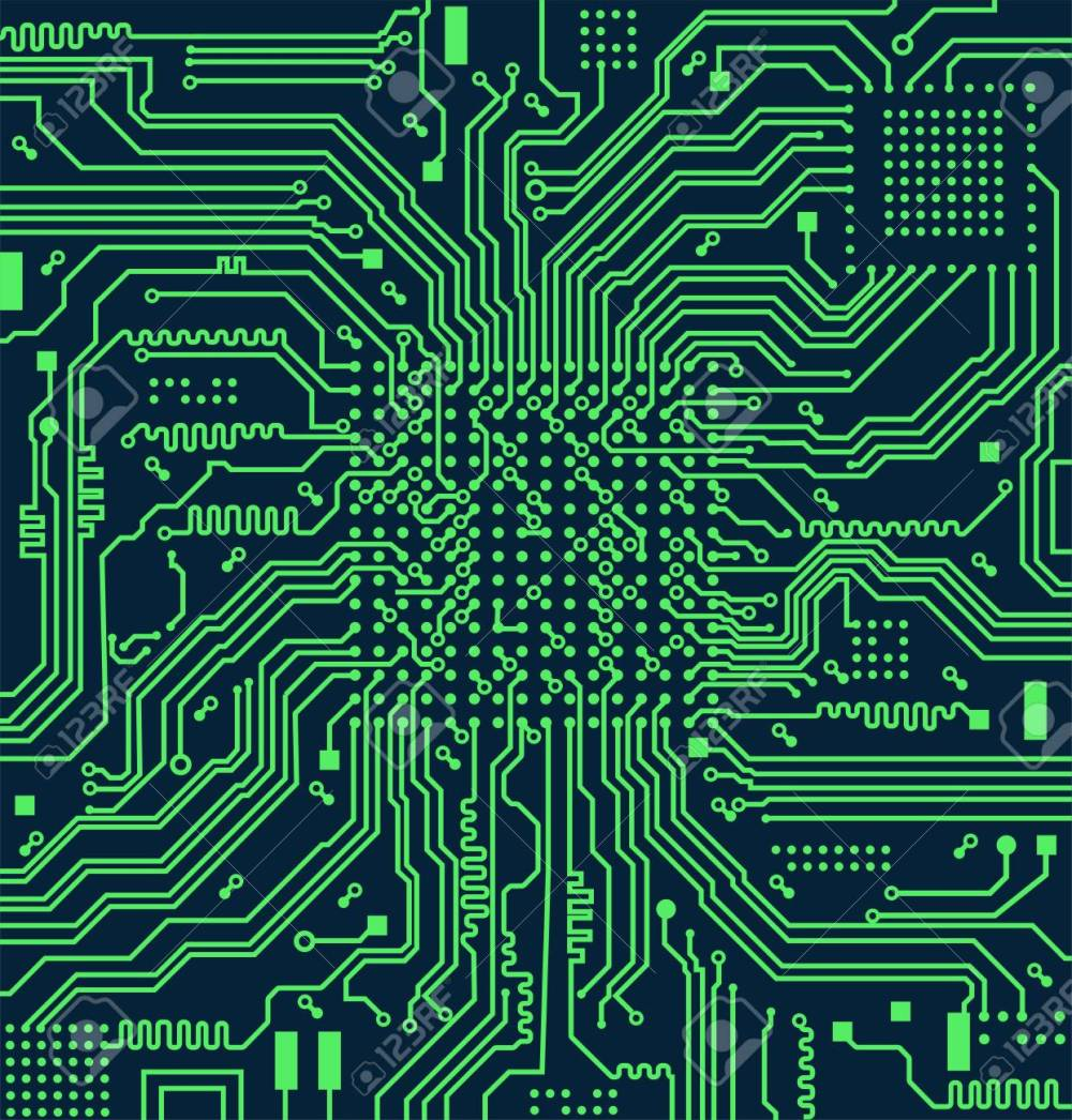 medium resolution of high tech electronic circuit board vector background stock vector 98087469