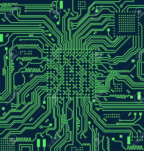 small resolution of high tech electronic circuit board vector background stock vector 98087469