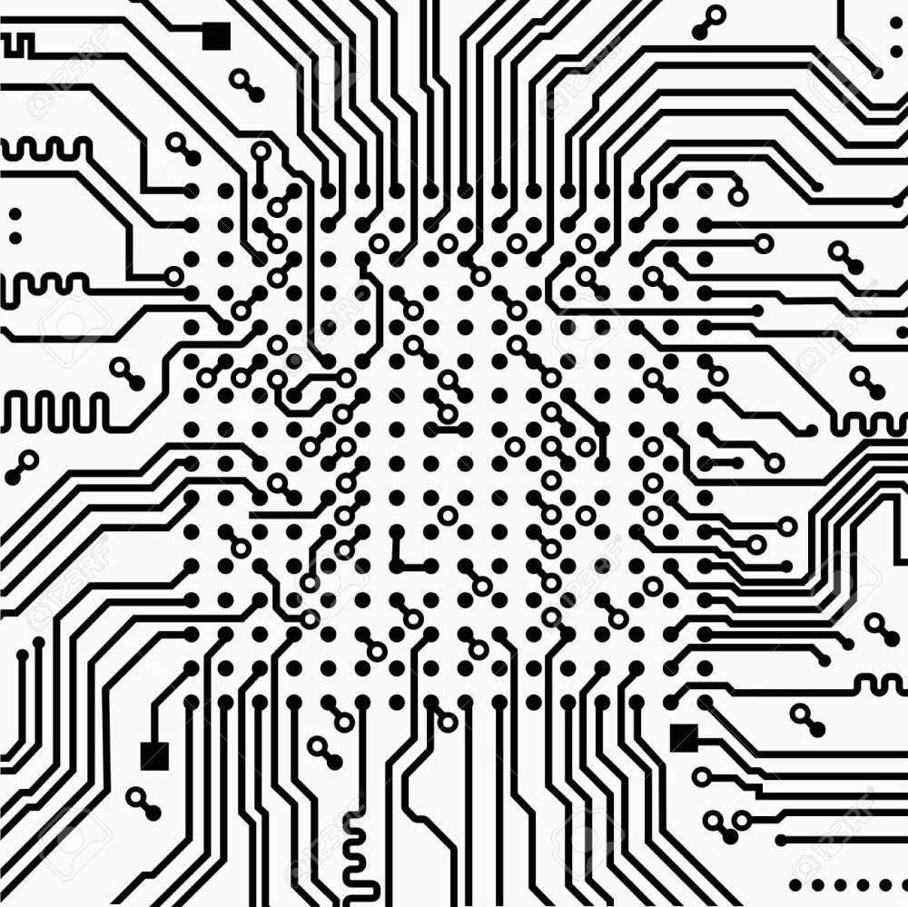 medium resolution of high tech electronic circuit board vector background stock vector 99199245