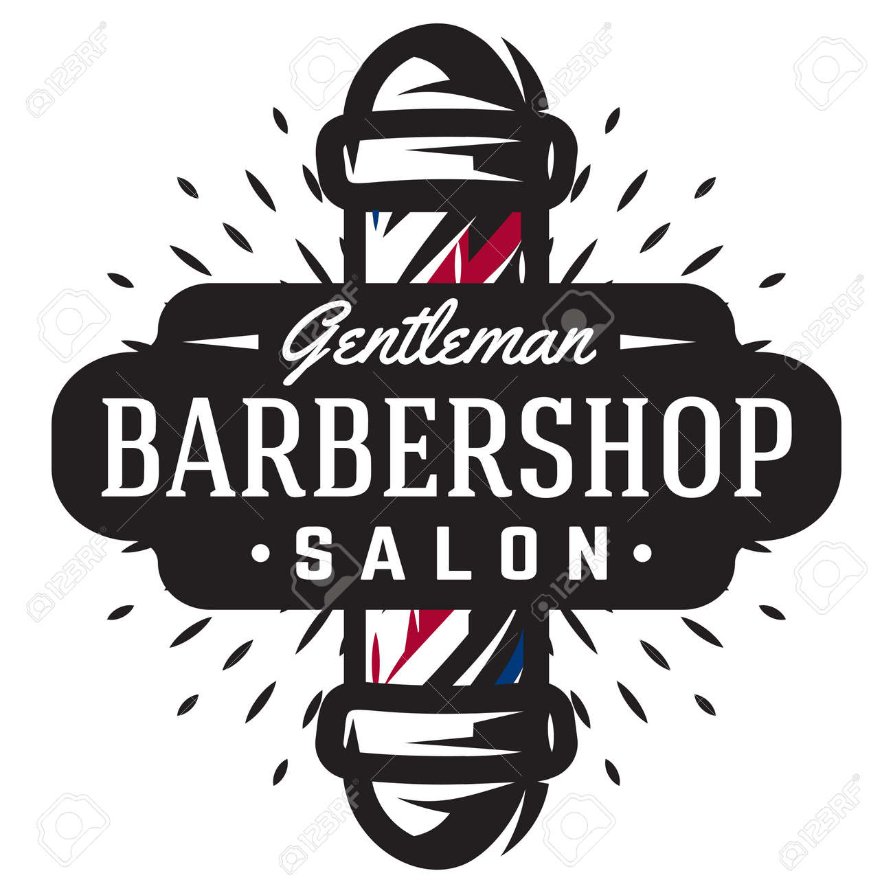 logo for barbershop with