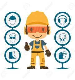 construction worker repairman thumb up safety first health and safety warning signs vector [ 1300 x 1300 Pixel ]