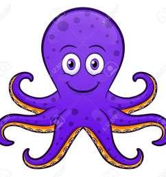 vector vector illustration of octopus cartoon purple design [ 1300 x 1212 Pixel ]