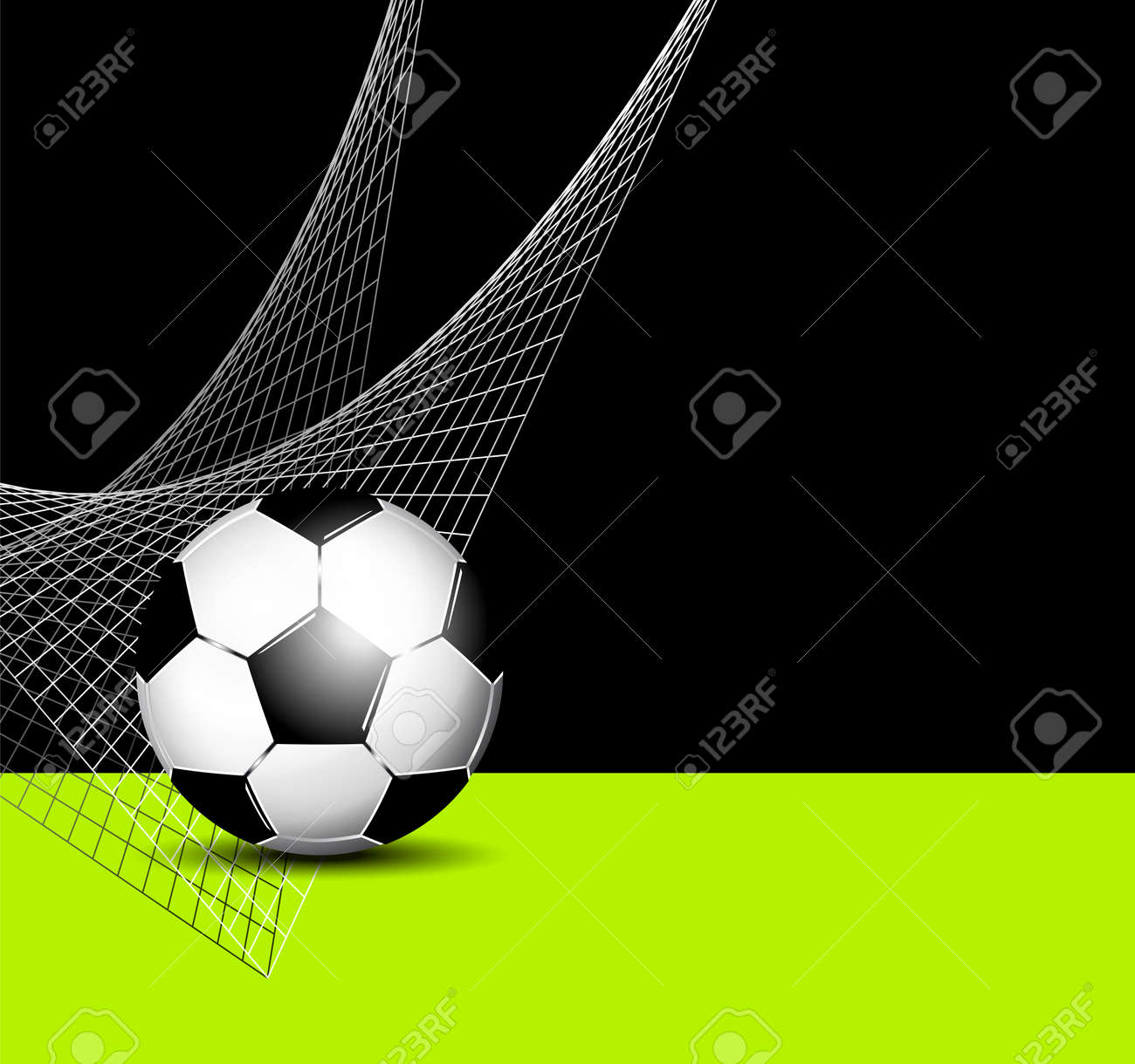 Soccer Ball With Net - Football Flyer Template Royalty Free Cliparts ...