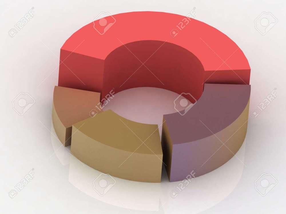 medium resolution of 3d circular diagram on white background stock photo 11946472