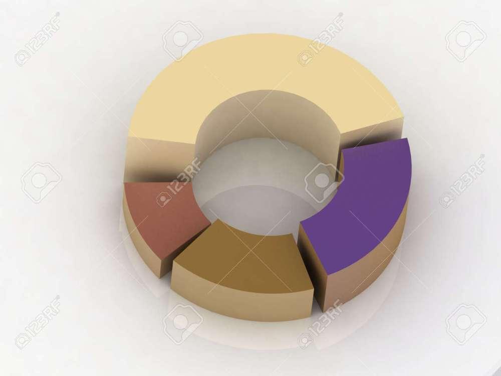 medium resolution of 3d circular diagram on white background stock photo 11946401