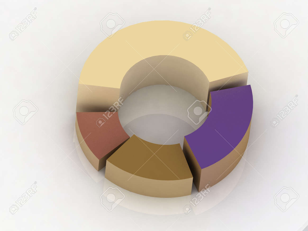 hight resolution of 3d circular diagram on white background stock photo 11946401