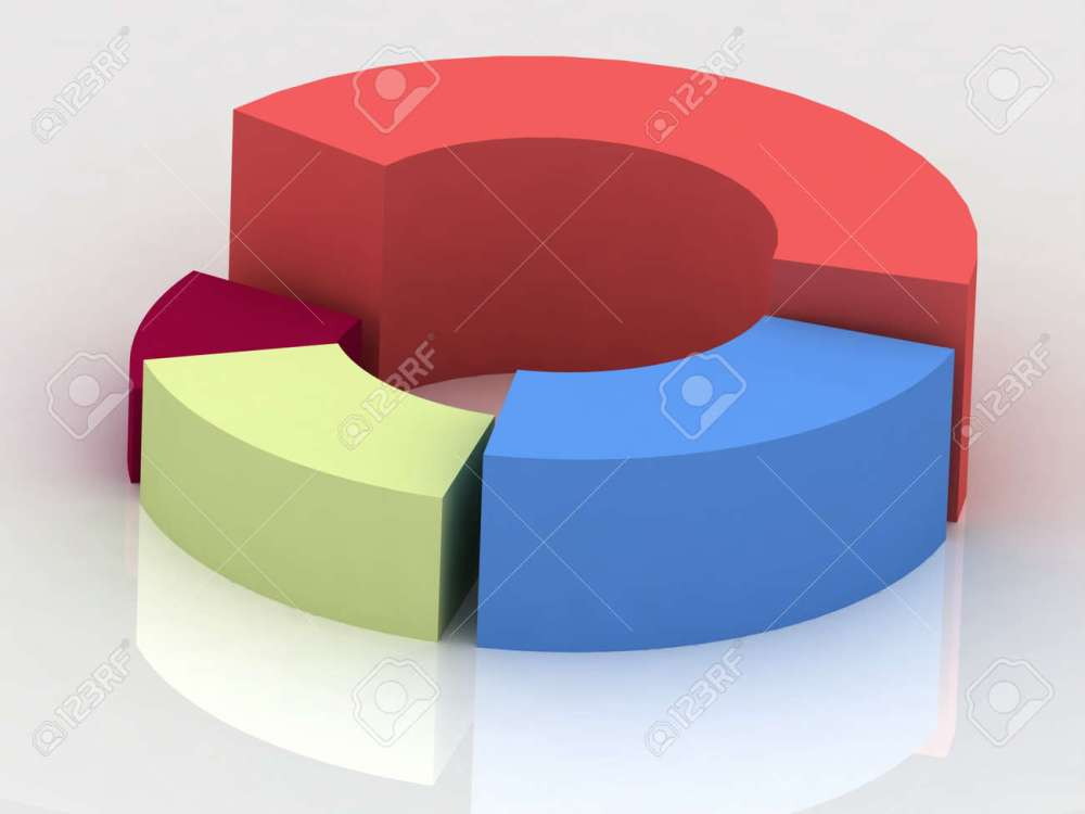 medium resolution of 3d circular diagram on white background stock photo 11948623