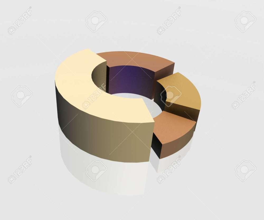 medium resolution of 3d circular diagram on white background stock photo 12050897